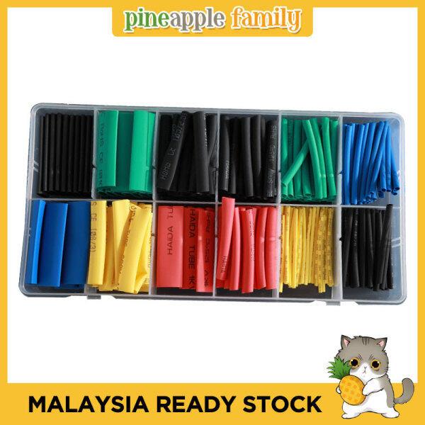 280pcs/Set Cable Heat Shrink Tube Sleeve Wire Wrap Tube 2:1 Assortment Kit Box Set