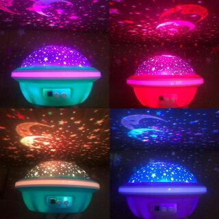 Panegyric Máy Chiếu UFO Bầu Trời Đầy Sao Mới, Sao, Mặt Trăng, Thiên Hà, Đèn Ngủ Trang Trí Phòng Ngủ Trẻ Em (Không Có Pin) Màu Sắc Ngẫu Nhiên thumbnail