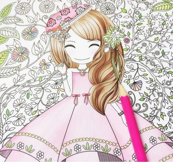 100Pages Beautiful Girl \\Colouring Book Secret Garden Coloring Book For Relieve Stress Kill Time Graffiti Painting Drawing Book