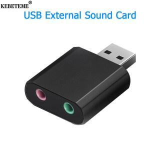 KEBETEME USB Card Âm Thanh, Bộ Chuyển Đổi Tai Nghe Giao Diện Âm Thanh USB Card Âm Thanh Ngoài Cho Loa Mic Máy Tính Xách Tay PS4 Máy Tính thumbnail