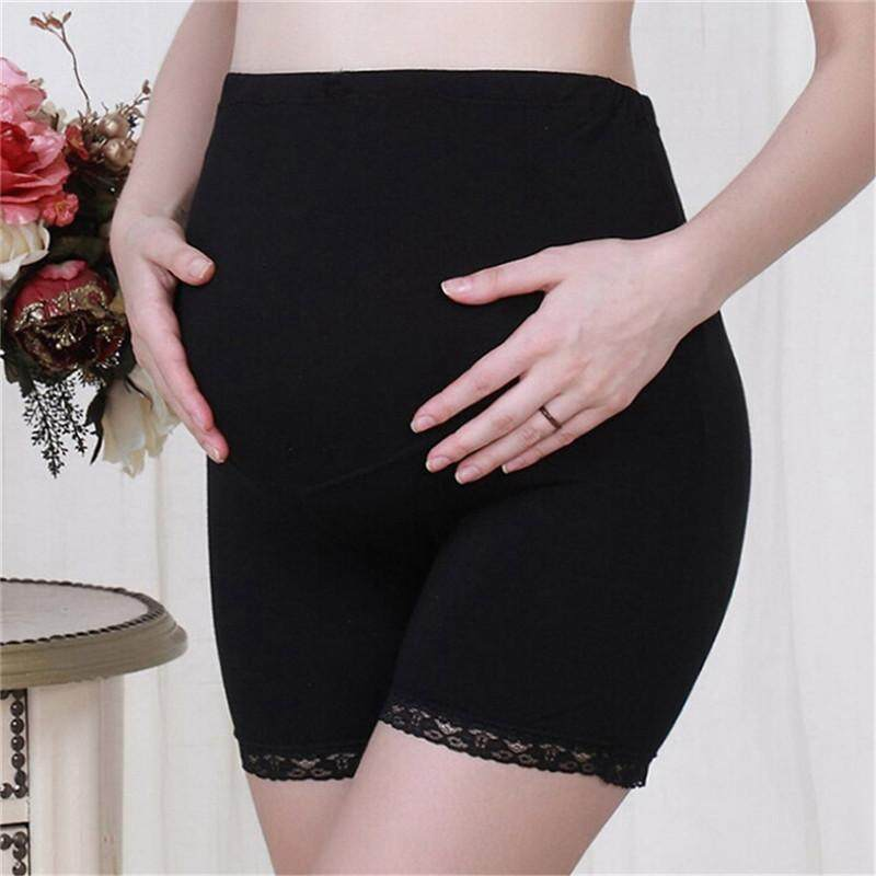 7cfd679a7096d Pregnant Women Adjustable Safety Shorts Maternity Insurance Pants Leggings  Black Variety grace