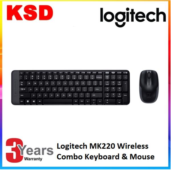 Logitech MK220 Wireless Keyboard and Mouse Combo Malaysia