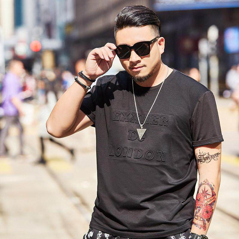 cd7b3ca9adf  Plus Size Tops for Men Oversize Tee 2019 Summer New Short Sleeve T-