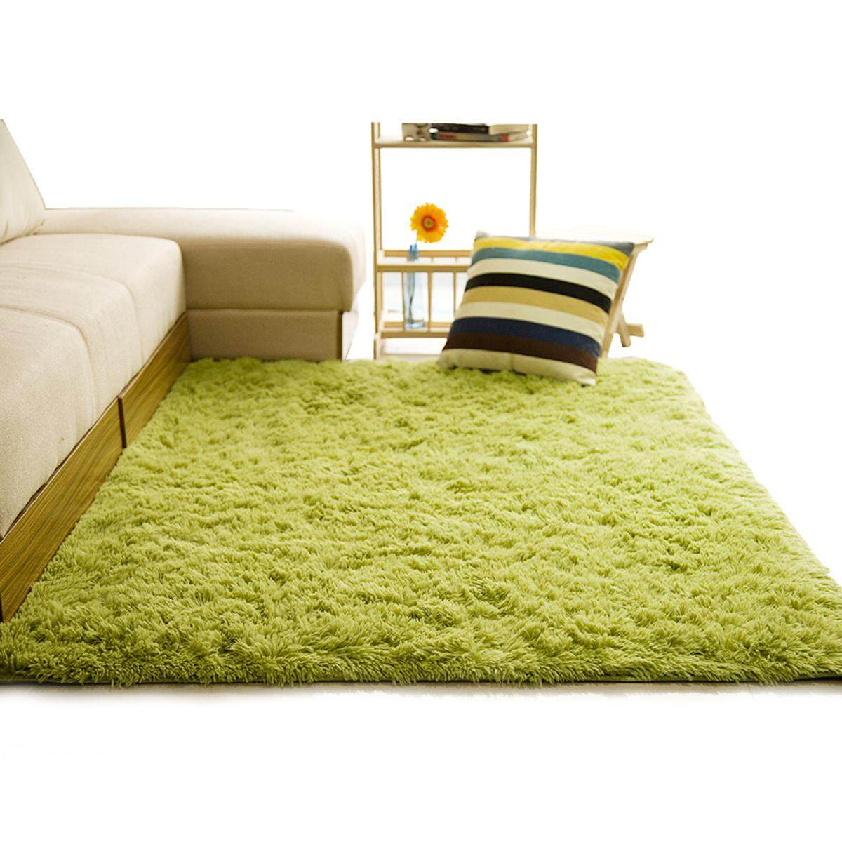 Lembut Karpet Berbulu Kusut untuk Ruang Keluarga Rumah Eropa Hangat Plush Karpet Lantai Matras Berbulu Kamar