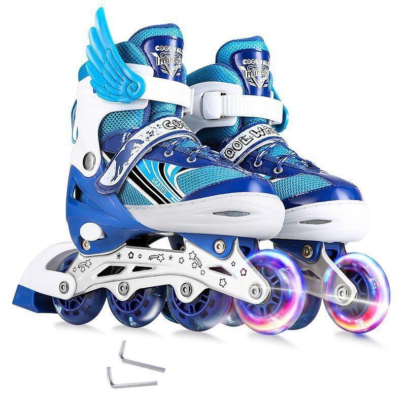 Phân phối Giày Trượt Trẻ Em Nam Cô Gái Điều Chỉnh Đèn Flash Đơn Giày Trượt Patin Giày Trượt Pa-tanh