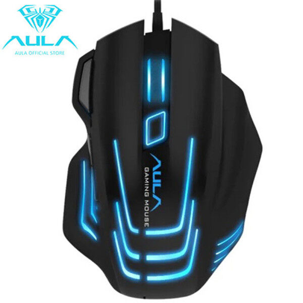 AULA Si989 Backlit Gaming Mouse 7 Buttons Programming 4000 DPI Adjustable Optical Wired USB Mouse with Fire Keys for FPS Gamer Singapore