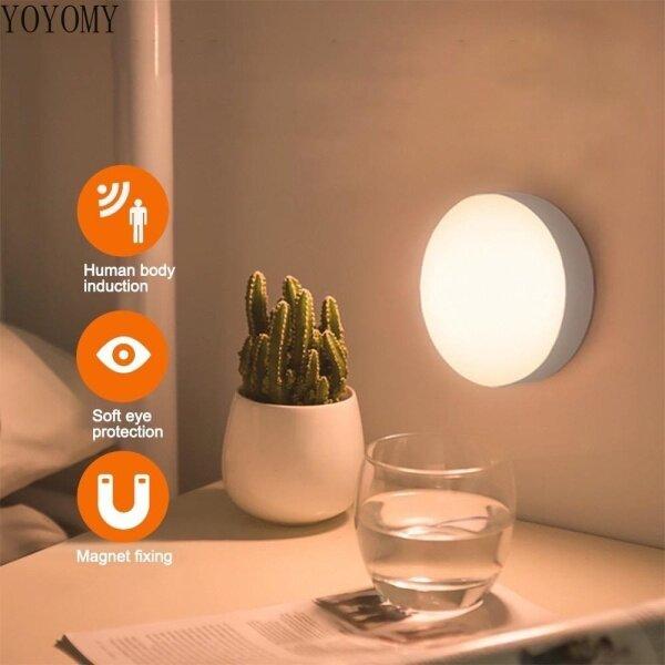 Bảng giá Đèn cảm biến chuyển động LED Đèn chiếu sáng ban đêm có thể sạc lại Thanh gắn trên tủ quần áo trong phòng tắm Cầu thang Wa / Đèn cầu thang