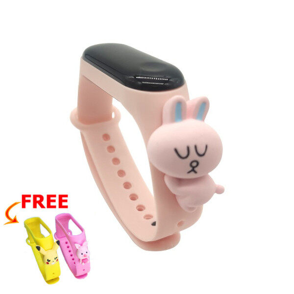 【Free 2pcs Strap】Misuli Cartoon Student Waterproof Watch Calendar Countdown Childrens Wtach Boys Girls Digital LED Electronic Casual Sports Watches Malaysia