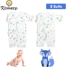 Kidsheep Baby Clothes Set Cotton Baby Underwear Infant Clothing Set Unisex Outfit Newborn Clothing Short Sleeves Short Pants Cozy Baby Homewear for 0mths – 6mths Newborn Baby