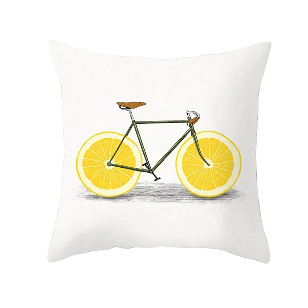 Hotilystore Yellow Polyester Pillow Case Sofa Car Waist Throw Cushion Cover Home Decoration