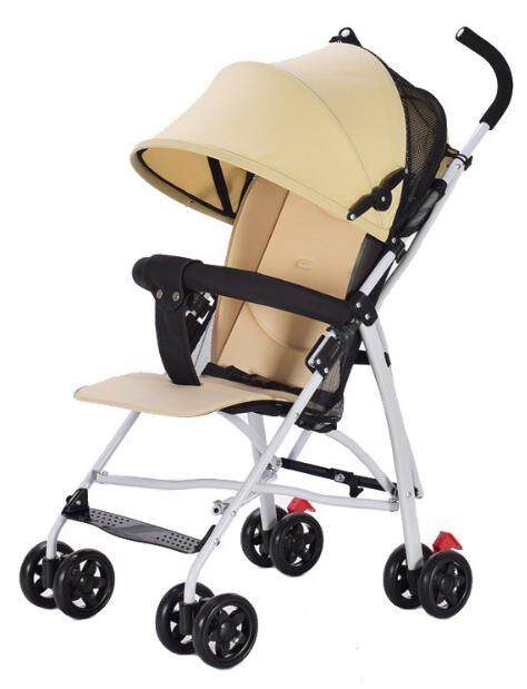 [KL Ready Stock] Premium Ultralight Weight Enhanced Foldable Stroller Easy Clean Comfortable Open Roof Breaklock 4 Wheels Traveler Choice