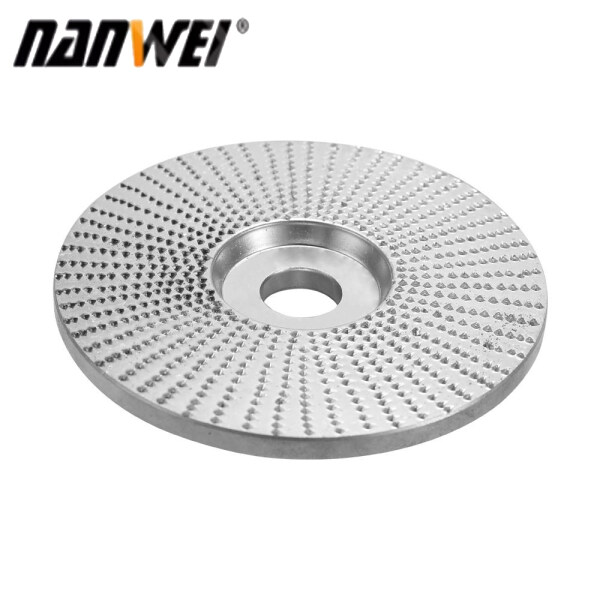 NANWEI Wood Angle Grinding Wheel Sanding Carving Rotary Tool Abrasive Disc For Angle Grinder Tungsten Carbide Coating Bore Shaping 5/8inch Bore