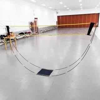 Khung Lưới Cầu Lông Tiện Dụng 3M Lưới Tennis Vuông Hỗ Trợ Tập Bóng Chuyền, Cầu Lông Mạng CẦU LÔNG Hình Cầu Lông thumbnail