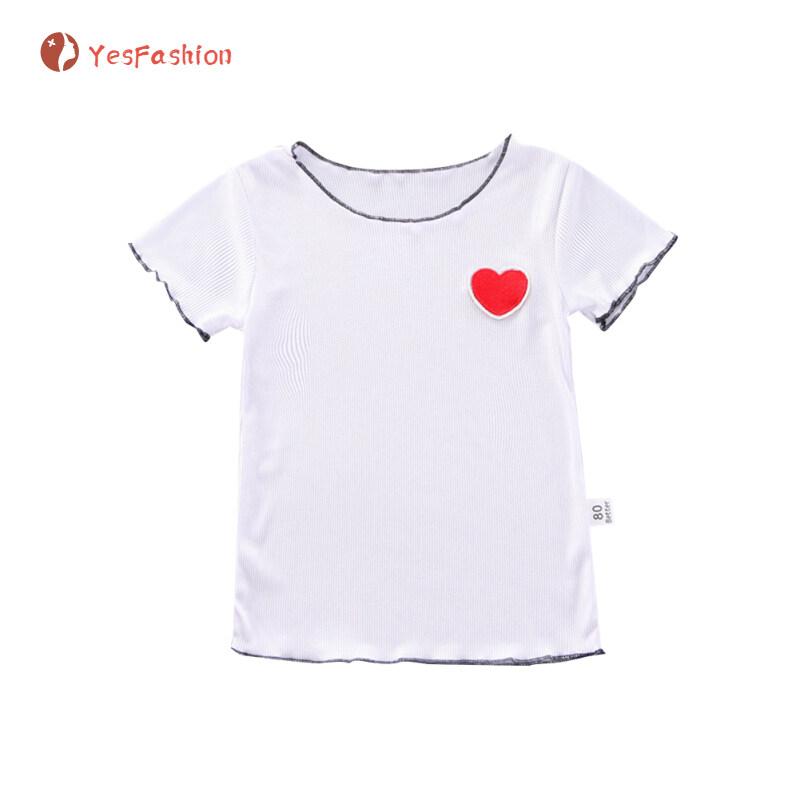 [Hàng Có Sẵn] Áo Thun Bé Gái Áo Cotton In Hình Màu Kẹo Áo Phông Cổ Tròn Tay Ngắn Cho Bé 1-5 Tuổi