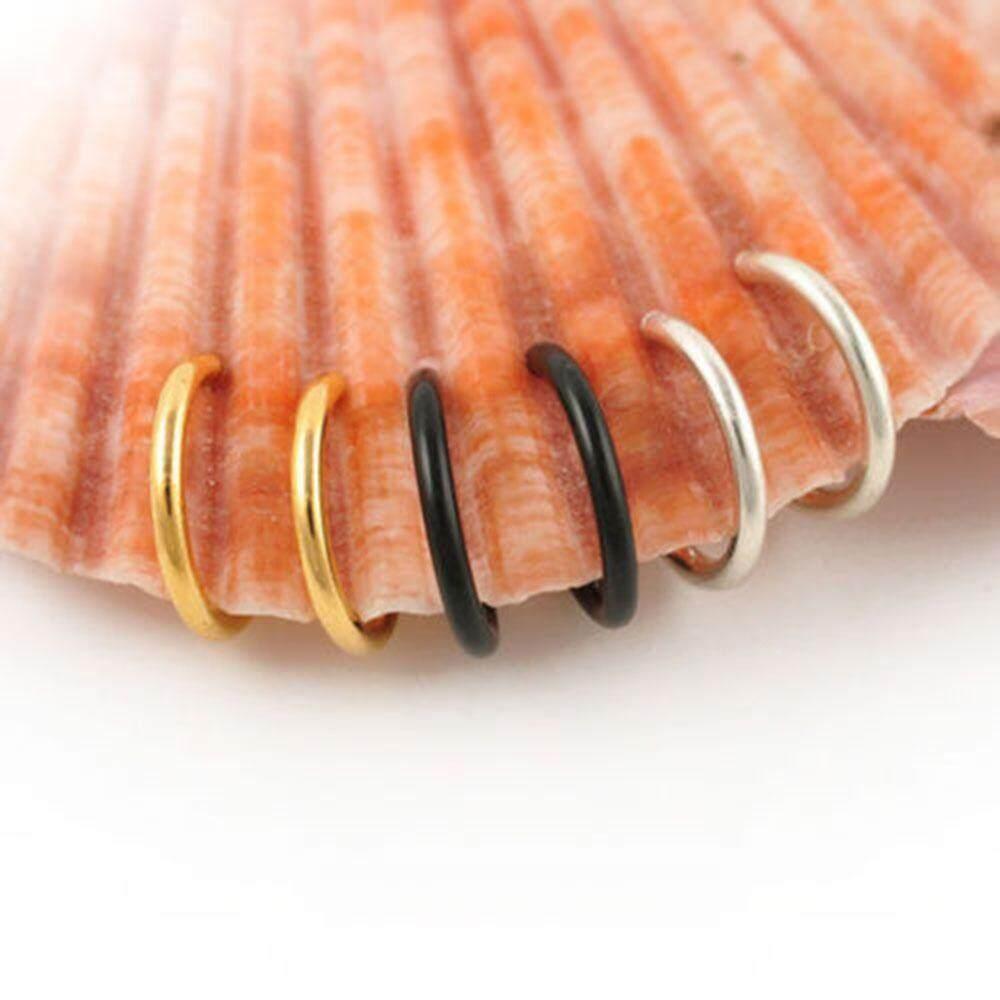1 * Hadiah Tanpa Tindik Gesper Elastis Anti Alergi Septum Hidung Cincin Cincin Hidung Klip Telinga Anting-anting