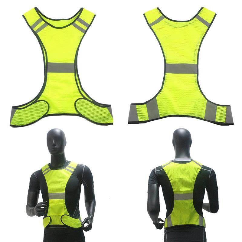 High Visibility Reflective Vest Security Waistcoat For Night Work Running Riding