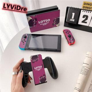 New LYViDre Nitendo Chuyển Đổi, NS Miếng Bọt Biển Hình Kỳ Lân K AWS Anime Ngọt Ngào Màu Xanh Dương Ngọt Ngào May Mắn -Miếng Dán Bảo Vệ Dễ Thương Hoạt Hình Gấu Dâu Bob Cho Nintendo Switch NS Console + Bộ Điều Khiển + Đế Giữ Chân Đế thumbnail
