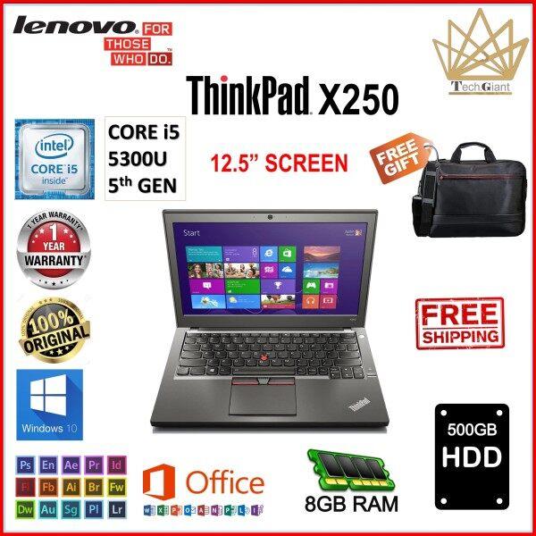 LENOVO ThinkPad X250 CORE i5 (5th GEN) 12.5 HD / Upto 8GB RAM / Upto 1TB SSD / 12.5 inch HD SCREEN / WINDOWS 10 PRO  / REFURBISHED Malaysia