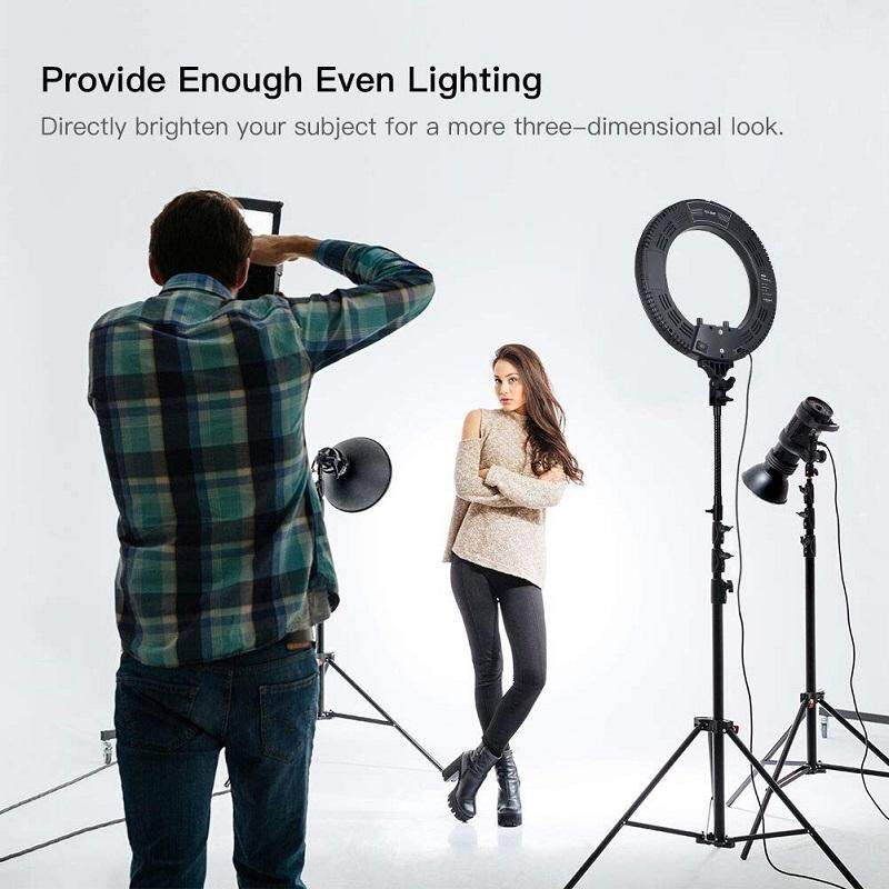 LED Ring Light 34CM 2900-6500K 3 Color Styles With Tripod Stand ...