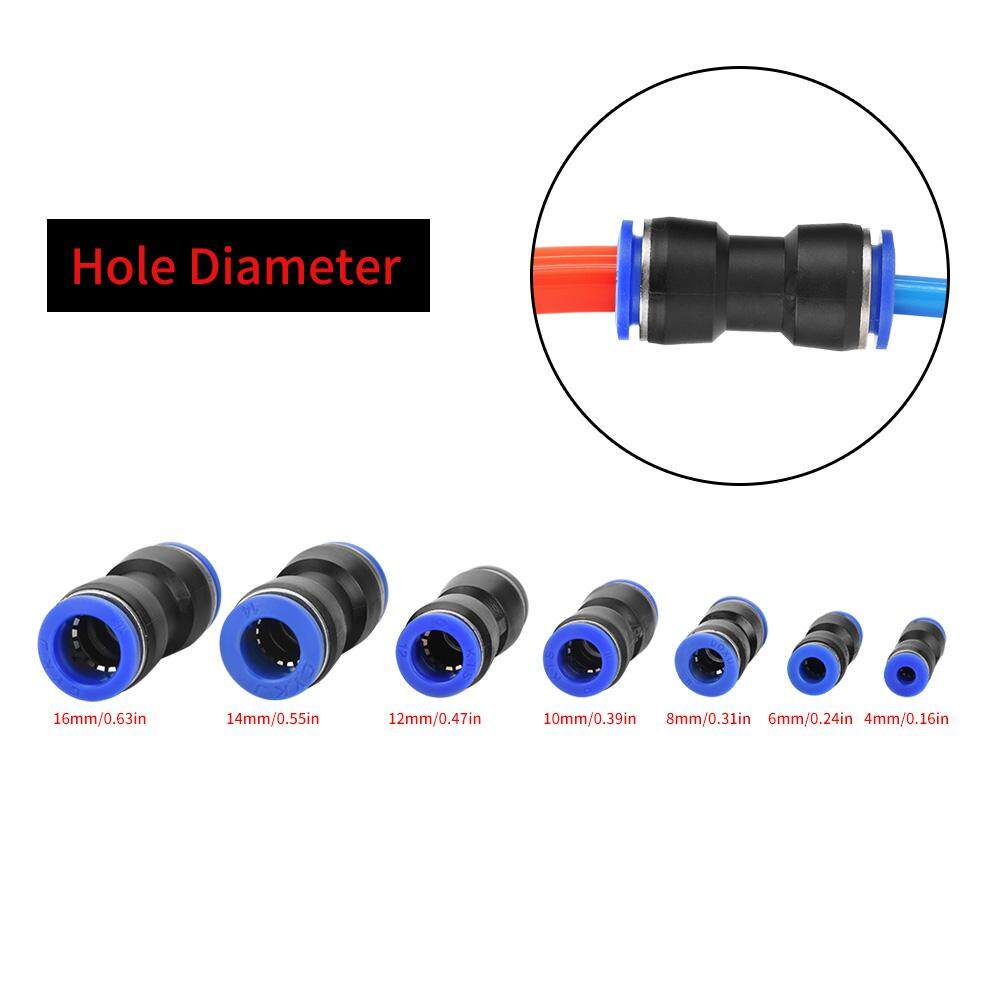 【Flash Promotion】35Pcs OD 4/6/8/10/12/14/16mm Air Hose Pneumatic Straight Connector Air Push Quick Fittings