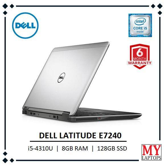 Dell Latitude E7240 / i5-4310U / 8GB RAM / 128GB SSD -ULTRABOOK [REFURBISHED] 6 MONTHS WARRANTY Malaysia