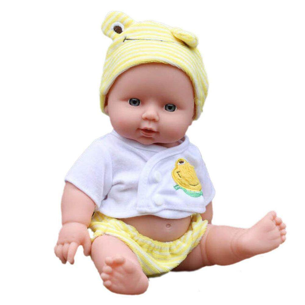 Silicone Vinyl Dolls 30cm Reborn Baby Girls Handmade Lifelike Toys W/cloth By Runningoingo.