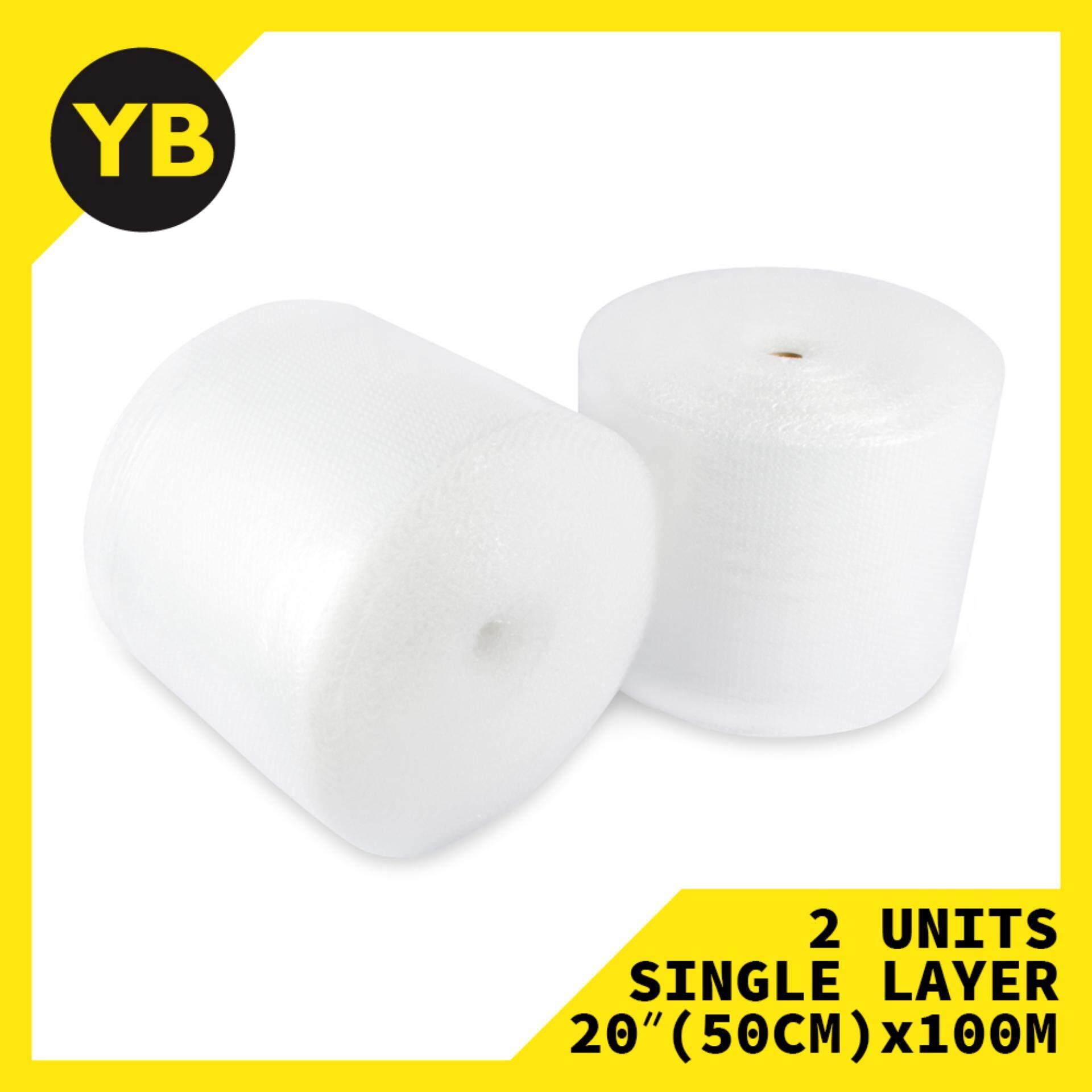 2x Bubble Roll 10mm x 20(50CM) x 100M Single Layer - YellowBox 1592.V0375-0015
