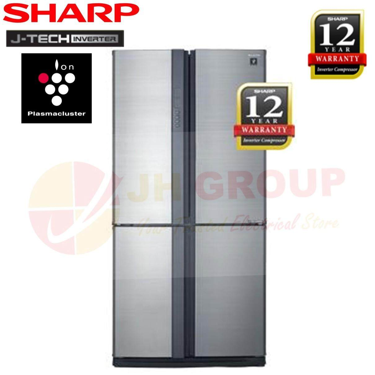 53a07479f (AUTHORISED DEALER) SHARP SJF95VMSS 750L 4 DOOR J-TECH INVERTER REFRIGERATOR