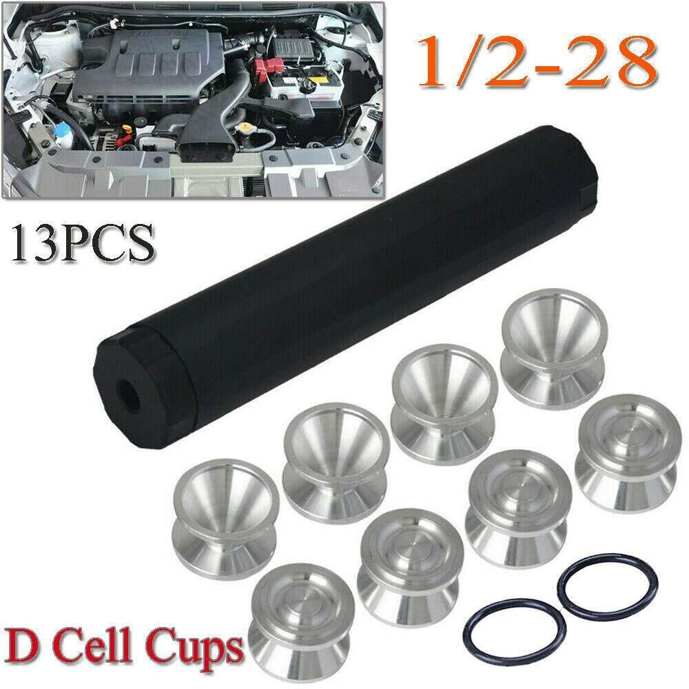 9'' Black F uel Filter 1 75''OD + 8Pcs 1 375 D Cell Storage Cups NAPA 4003  1/2-28