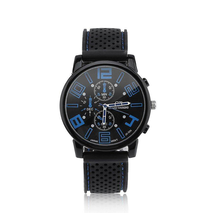 Top Sale Men Woman Analog Rubber Stainless Steel Hours Quartz Good Sport Watch bán chạy