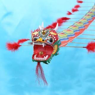 Con diều hình rồng truyền thống Trung Quốc đồ chơi trẻ em ngoài trời dài 4m bằng nhựa có thể gấp gọn tiện lợi - INTL thumbnail