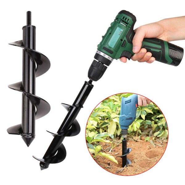 multiple sizes Garden Earth Drill Flower Planter Gardening Supplies Auger Flower Planter Digging Ground Drill Spiral Drill Bit