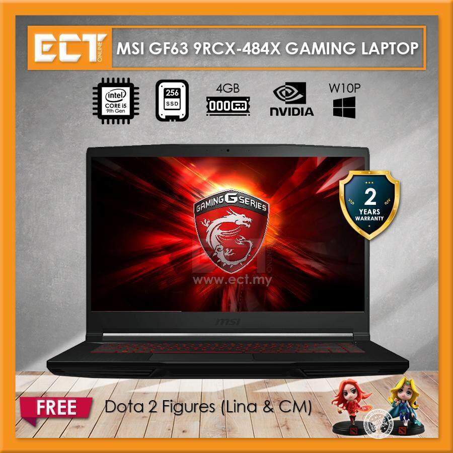 MSI GF63 9RCX-484X Gaming Laptop (i5-9300H 4.10GHz,256GB,4GB,GTX1050TI-4G,15.6 FHD,W10P) Malaysia