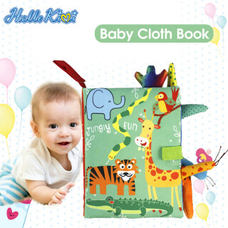 HelloKimi Soft Baby Cloth Books Early Learning Sensory Educational Toys Animal Cloth Book Fabric Books Kids Cartoon Animal Toy Book Rustle Sound 3D Tail Educational Touch and Feel Crinkle Books for Boys & Girls Toddler Infants Baby Children Toys thumbnail