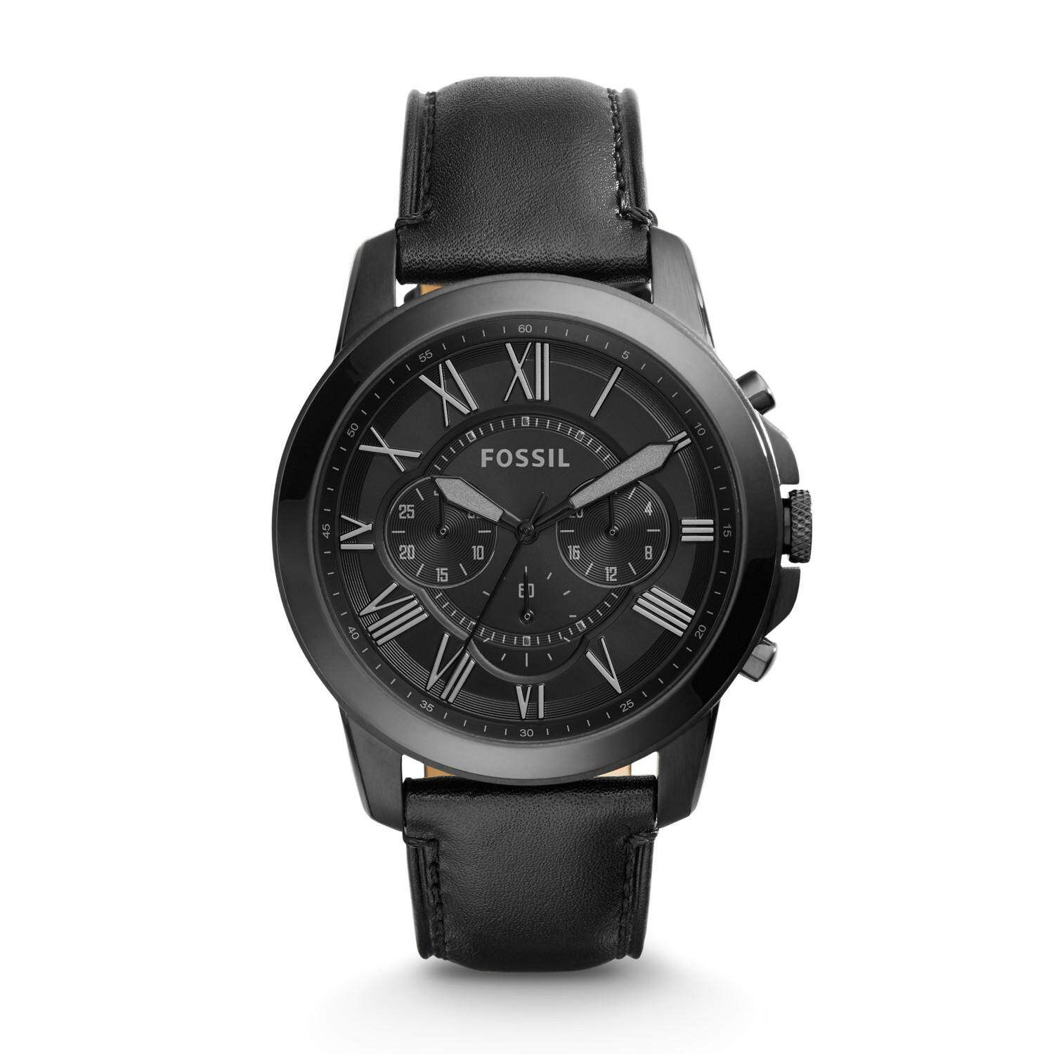 Fossil FS440 Original Chronograph Design Black Leather Malaysia