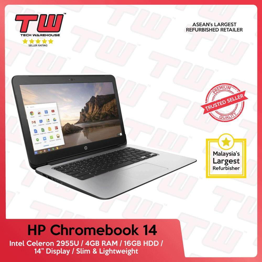 HP Chromebook 14 / Intel Core Celeron 2955U / 4GB RAM / 16GB HDD / 3 Months Warranty(Factory Refurbished) Malaysia