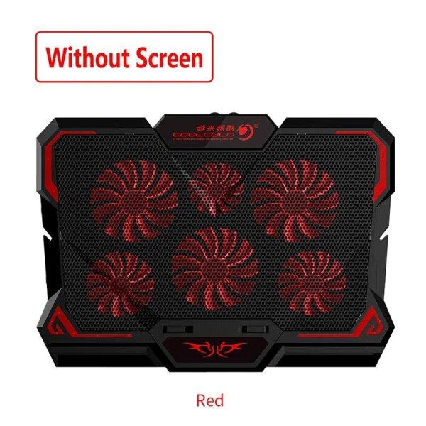 17Inch Gaming Laptop Cooler Six Fan Led Screen Two Usb Port 2600Rpm Laptop Cooling Pad Notebook Stand For Laptop Malaysia