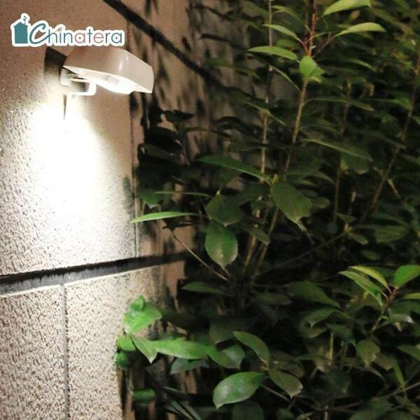 Đèn Cảm Biến Năng Lượng Mặt Trời Chinatera, Đèn Treo Tường Ngoài Trời, Chống Thấm Nước SMD 12, Dùng Trang Trí Sân Vườn, Hiên Nhà, Đường Đi