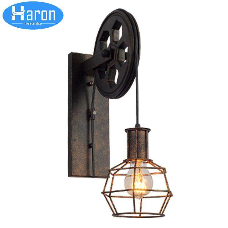 Loft Creative Retro Restraurant Bar American Country Industry Wall Sconces Iron Water Pipe Wall Lamp A Great Variety Of Models Lamps & Shades