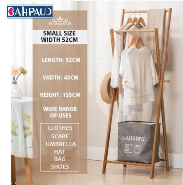Bahpaud Wooden Floor Coat Rack Bedroom Mobile Modern Minimalist Bamboo Rack