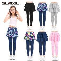 SLAIXIU Cotton Trẻ Em Bé Gái Quần Legging Váy Cho Bé Hoa In Hoa Thun Quần Bút Chì Áo Thiếu Niên Quần