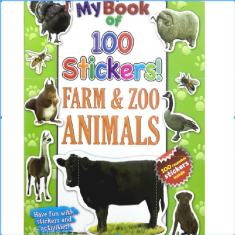 【DM】My Book of 100 Stickers - Sticker and Activities Book - Farm & Zoo Animals Malaysia