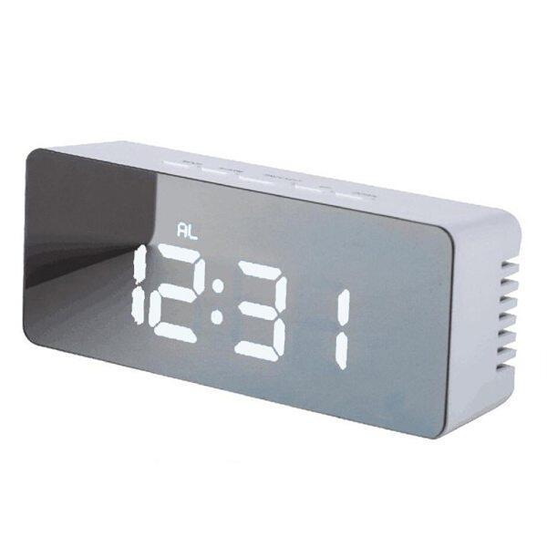 Nơi bán Đồng hồ báo thức để bàn Báo lại Đồng hồ gương kỹ thuật số LED Đồng hồ để bàn kỹ thuật số hình chữ nhật hiển thị điện tử lớn nhiệt độ thời gian