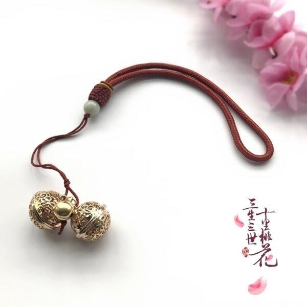 Sansheng III Shili Hoa Đào Phượng Trắng Chín Cùng Vòng Chân Chuông Donghua Dijun Cam Kết Dilraba Vòng Đeo Tay