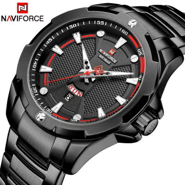 NAVIFORCE Top Luxury Brand Mens Quartz Watches Fashion Full Steel Men Waterproof Sport Watch Male Casual Date Business Clock Malaysia