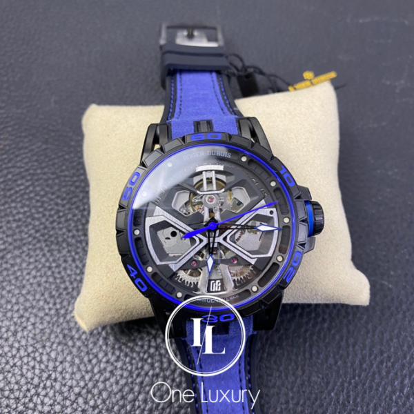 [ONE LUXURY] RD EXCALIBUR HURACAN BLACK DIAL ON BLUE LEATHER STRAP Malaysia