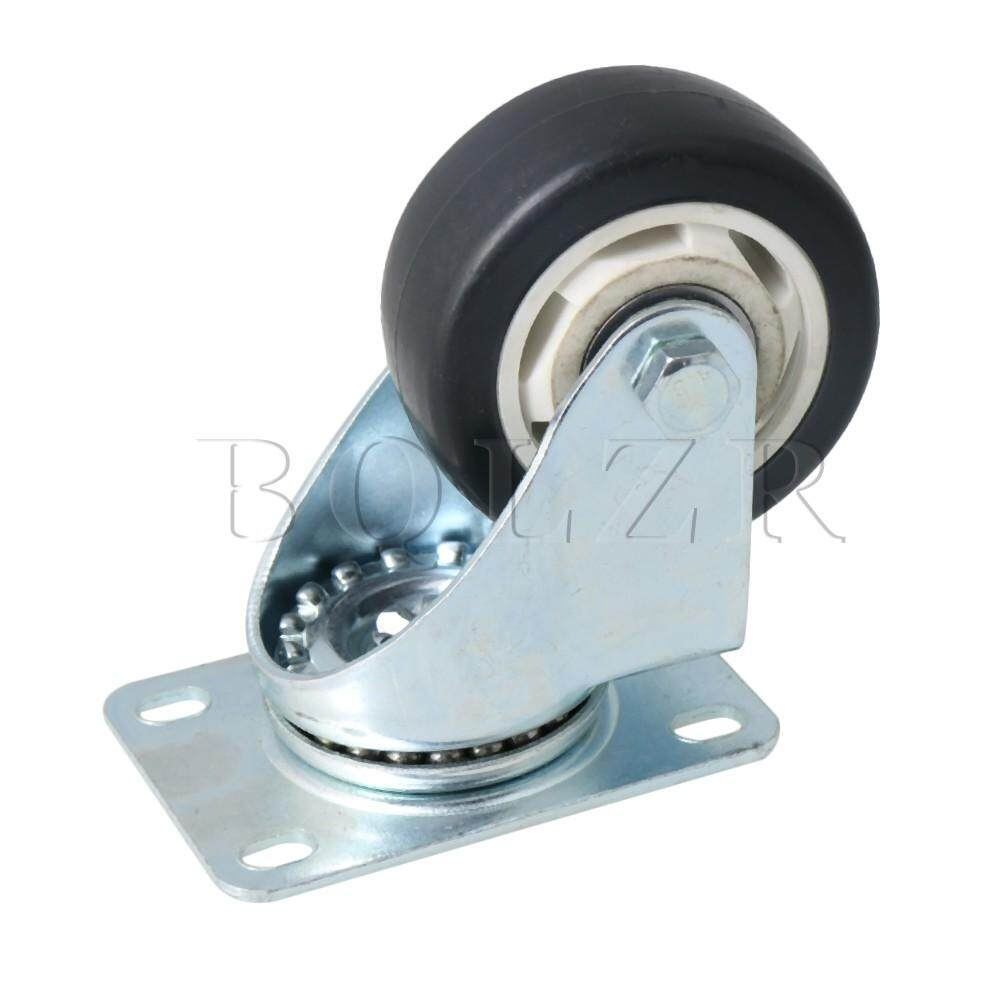 Metal Double Axis Rotate Caster Wheel for Flatbed Truck Car Trolley Black