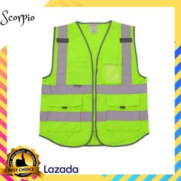 BEST SELLER SFVest High Visibility Reflective Safety Vest (Green)