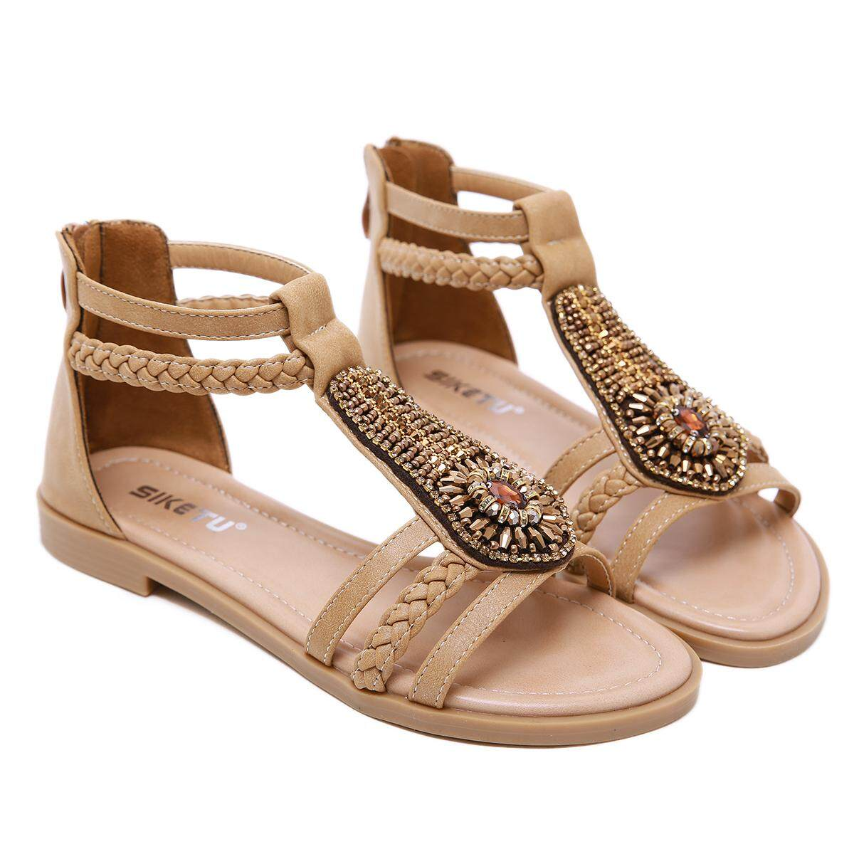 911d0a83d48f Eastern Dawn 2019 New Women s Sandals Size 35-42 Thick Heel 2CM Decorative  Rhinestone Wedges