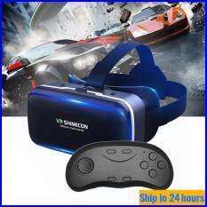 [Amorus VR] Kính VR Kính Kỹ Thuật Số 3D Thông Minh Đeo Game G04 Thực Tế Ảo Cho Điện Thoại Di Động + D01 Tay Cầm Bluetooth